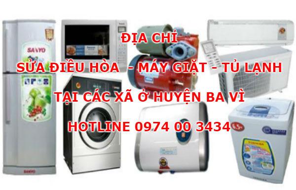 Địa chỉ sửa điều hòa máy giặt tủ lạnh tại Ba Vì