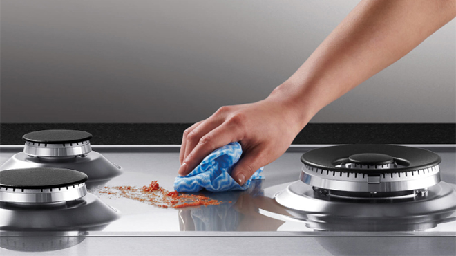 Cách vệ sinh bếp ga sạch bóng ngay tại bếp