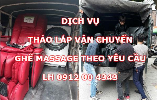 Dịch vụ tháo lắp vận chuyển ghế massage tại nhà